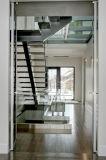Escalera recta de encargo de las escaleras rectas rectas de las escaleras/escalera de cristal