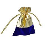金ホイルが付いている豪華なドローストリングの宝石類の袋のビロード袋