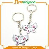 Metallo Keychain per figura della farfalla