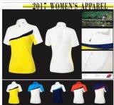 5개의 색깔은 건조한 짧은 소매 여자 골프 t-셔츠 단식한다