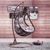 Balanço ao ar livre da fábrica cromática, mobília do Rattan, cadeira de suspensão do ovo interno (D014)