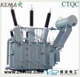 transformador de potencia de la carga del Tres-Enrollamiento de 63mva que golpea ligeramente 110kv