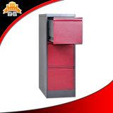 Uso para baixo batido do escritório da estrutura ficheiro do metal de barato 3 gavetas
