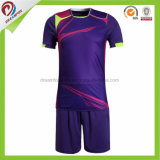 高品質細い適合のサッカージャージーはスポーツ乾燥した適合のTシャツのフットボールのユニフォームのフットボールのワイシャツメーカーのサッカージャージーをカスタム設計する
