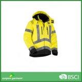 Revestimento reflexivo impermeável da segurança 3m da segurança elevada do inverno da visibilidade
