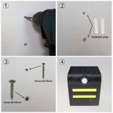 Lâmpada de parede psta solar do diodo emissor de luz da segurança do sensor de movimento de PIR