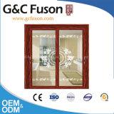 Büro-Partition-Aluminiumschiebetür mit Vorhängen