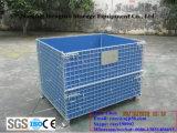 Uso soldado dobrável do armazém dos recipientes do engranzamento de fio do armazenamento