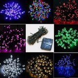 Angeschaltenes Zeichenkette-Licht-Weihnachtssolarlicht 22m200LED mit 8 Modi