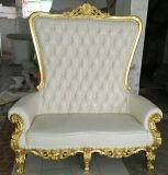 Sofa royal moderne d'événement pour l'usager en bois de présidence de trône de présidence de mariage