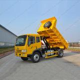 주문을 받아서 만들어진 FAW J5k 4X2 덤프 또는 팁 주는 사람 트럭 12t 230HP는 완전히 일 수 있다
