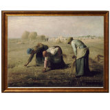 Het beroemde Olieverfschilderij van Kunstenaars, de Reproductie van het Olieverfschilderij van het Meesterwerk, Gleaners (1857years) - Gierst Jean-Francois