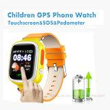 Perseguidor do relógio do GPS dos miúdos da tela de toque 1.22inch TFT para os presentes da promoção (D15)