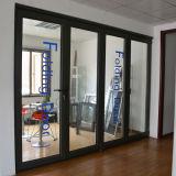 Porte de pliage en aluminium de profil d'interruption thermique de qualité Kz166