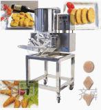 음식 공장을%s 기계를 연타하는 자동적인 햄버거 작은 파이 Tempura