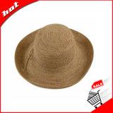 Chapéu flexível da forma da palha do Raffia