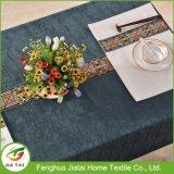 Pano de tabela de design de flores bordado à mão de poliéster personalizado