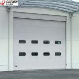 Тип секционная надземная автоматическая промышленная раздвижная дверь гаража поставщика Китая