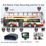 GPSを使って、WiFi、3G、G-Sensor Option 4CH/8CH Option HDD Storage Mobile DVR