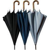De houten Paraplu van het Handvat van de Kromme Rechte Wind