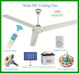 """380rpm ventilateur de plafond solaire de C.C de la vitesse 56 """" avec à télécommande"""