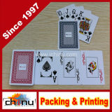Do casino grande do deslocamento predeterminado do clube do póquer cartões de jogo plásticos impermeáveis do PVC (431014)
