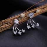 Серег стержня способа стерлингового серебра женщин 925 шикарных кристаллический
