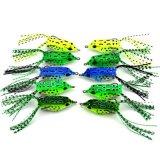 Señuelo plástico suave al por mayor de la rana de Topwater del cebo de pesca baja