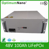 Oltre 2000 batterie di ciclo di vita 48V 100ah LiFePO4 di volte per la stazione di telecomunicazione