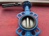 Válvula de borboleta Ductile da bolacha do ferro com punho