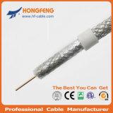 Низкая потеря Db и коаксиальный кабель цены по прейскуранту завода-изготовителя RG6 при одобренное CE/RoHS/UL/ISO