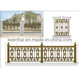 Villa Security를 위한 힘 Coated Cast Aluminum Metal 정원 Fence