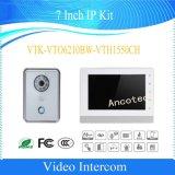 Dahua 7 Zoll-Landhaus-videotürklingel-Wechselsprechanlage IP-Installationssatz (VTK-VTO6210BW-VTH1550CH)
