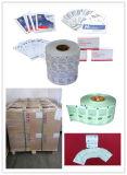 Papel laminado uso da almofada da preparação do álcôol