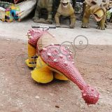 Dinosaur Costume Sculptures Dinosaur Riding Scooter에 Finego Amusement Park Kids Rides