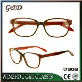 Frame Sr6060 van de Glazen van het Oogglas van Eyewear van de Voorraad van de Acetaat van de manier het In het groot Optische