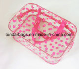 Sac à provisions clair de sac à main de tirette de PVC de plastique