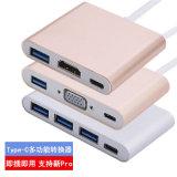 Digitare la C al VGA HDMI di USB2.0 USB3.0 Multi-Usano il Tipo-c il tipo adattatore del USB del mozzo di C