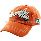 Gewaschene Baumwollstickerei-Baseball-Sport-Schutzkappe 100% (TMB6274)