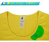 Grand T-shirt large rond profond plat d'hommes de cou