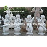 Escultura de pedra natural da pedra do anjo para o jardim e a fonte