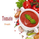 Законсервированный затир томата с высоким качеством