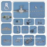 Двойной зажим для подвешивания для вспомогательного оборудования кабеля Fittings/ADSS струбцины ADSS