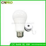 Luz de bulbo de aluminio revestida plástica de la emergencia LED 7W