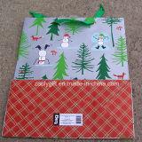 La qualité personnalisent le sac promotionnel de cadeau de sac de papier d'art d'impression de Noël