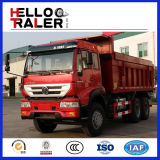 Caminhão de descarga dianteiro do Tipper HOWO do elevador para a carga do padrão da estrada