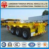 3 차축 30FT 강철 골격 Semitrialer 트럭 트레일러