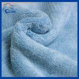 Microfiber korallenrotes Vlies-Tuch für Reinigung (QHM00326)