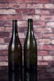 750mlスクリーンの印刷を用いる旧式な緑のワイン・ボトル