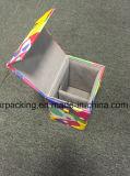 Caja de la joyería de la PU de la impresión con los cajones del espejo y del almacenaje